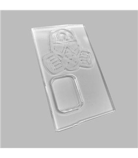 PUERTA GOLIATH 21700 FULL ENGRAVED TRANS CLEAR MASK