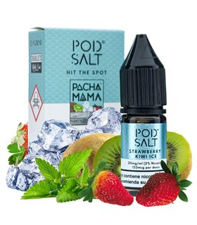 PACHAMAMA STRAWBERRY KIWI ICE 10ML 20MG SALES FUSIONS - POD SALT