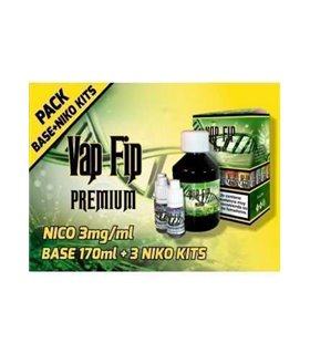 Pack Base 20PG / 80VG 200ml 3mg TPD  - VAP FIP