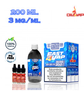 F4V - PACK BASE Y NIKOVAPS 3mg/ml (TOTAL 200ML)