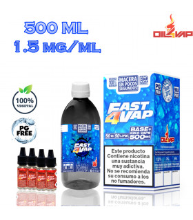 F4V - PACK BASE Y NIKOVAPS 1,5mg/ml (TOTAL 500ML)
