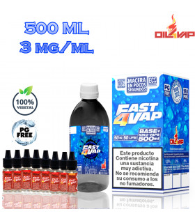 F4V - PACK BASE Y NIKOVAPS 3mg/ml (TOTAL 500ML)