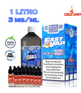 F4V - PACK BASE Y NIKOVAPS 3mg/ml (TOTAL 1L)