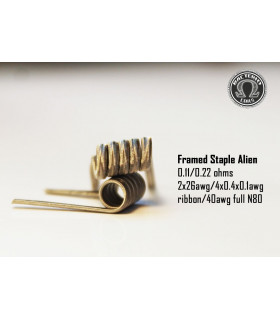 Framed Staple Alien 0.22/0.11 (2 piezas) Bacterio Coil