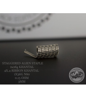 STAGGERED ALIEN STAPLE by Rick Vapes Coils