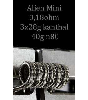 MINI ALIEN 3x28 y 40g by Rick Vapes Coils
