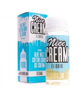 Blue Razz Cotton Candy Ice Cream 100ml - Nice Cream