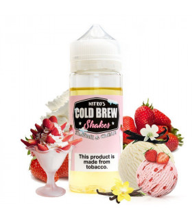 Strawberry and Cream 100ml - Nitro's Cold Brew