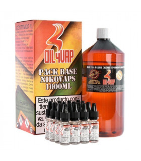 PACK BASE Y NIKOVAPS 1,5mg/ml (TOTAL 1L) - OIL4VAP