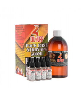 PACK BASE Y NIKOVAPS 3mg/ml (TOTAL 500ML) - OIL4VAP