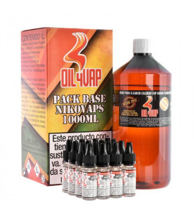 PACK BASE Y NIKOVAPS 6mg/mlg (TOTAL 1L) - OIL4VAP
