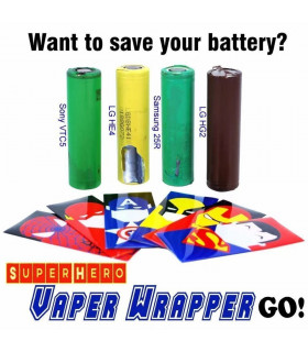 VAPER WRAPPER SUPERHÉROES - 18650